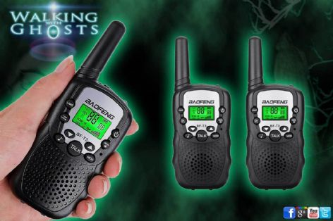 2x Mini Walkie Talkie 2 way Radio Set Paranormal Investigation